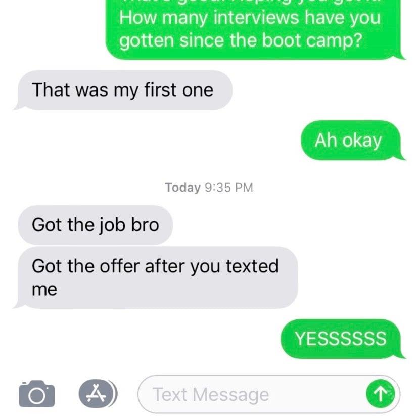 Got the job mike